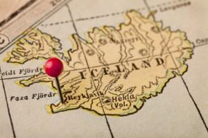 Iceland and Reykjavik map