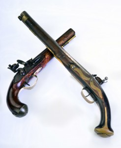 Antique English and French  Flintlock Pistol.
