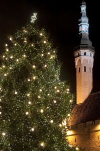iStock_000011311558Small-Tallinn Old Market Square decorated for Christmas