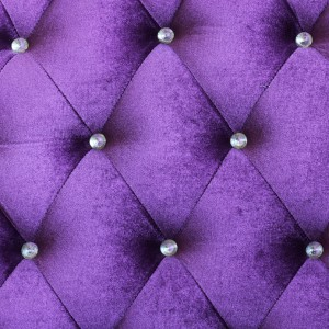 Purple velvet cushion