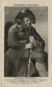 NPG D16685; Peter the Wild Boy published by C. Johnson, after  Unknown artist