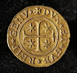 ancient golden coin
