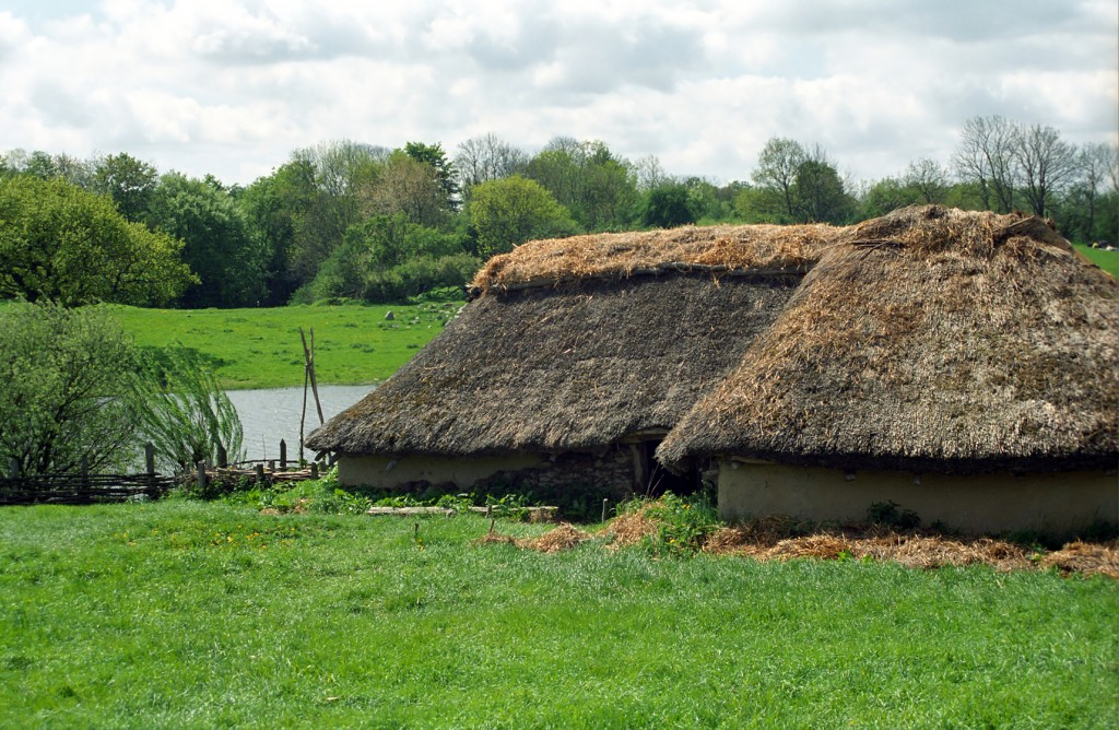 Reconstruction of a Viking village, Lejre, Denmark